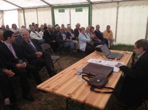 Plus de 80 personnes ont assisté hier soir à Pauillac à la conférence de Pascal, Roman.