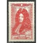 """Timbre """"Louis XIV, 1638-1715"""", dessiné et gravé par P. Gandon."""