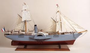 """Maquette du paque-bot-poste """"La Guienne"""" (collection du Musée de La Poste."""